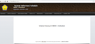 Gratis Sistem informasi sekolah berbasis web dengan php