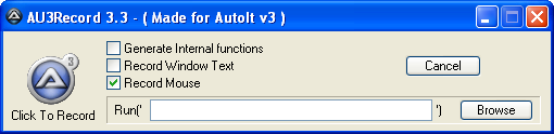 AutoIt Recorder when launched through SciTE Menu