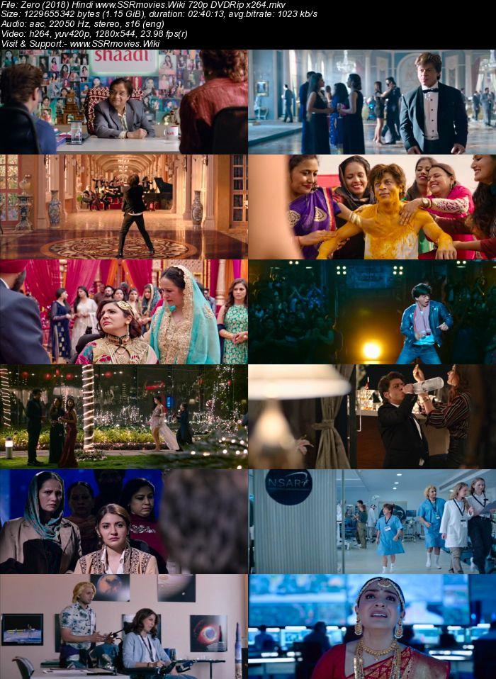 Zero (2018) Hindi 720p DVDRip x264 1.1GB Movie Download