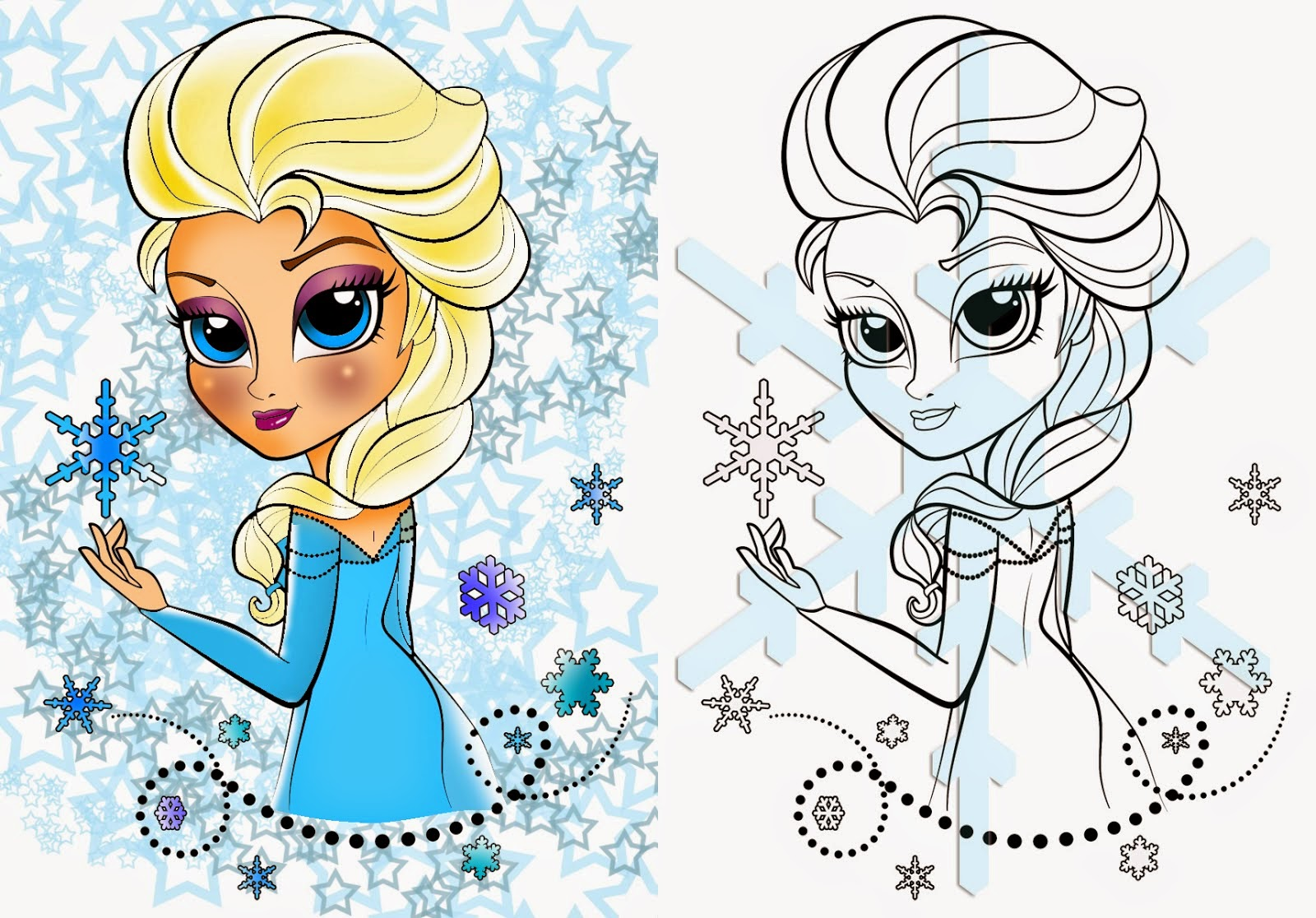 Coloring Pages Elsa From Frozen Free Printable