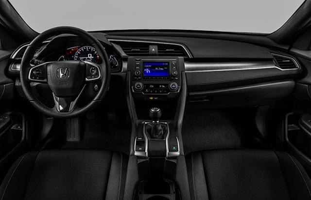 Novo Honda Civic Sport 2017 - versão de entrada - interior