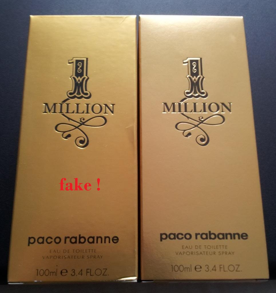 Real Vs Fake Paco Rabanne One Million