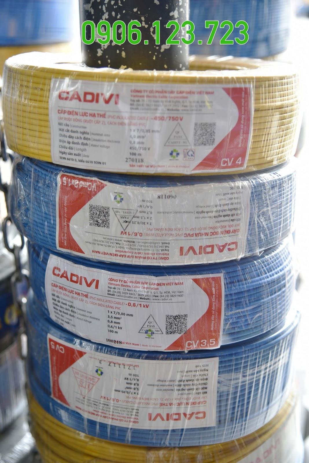 Địa chỉ bán dây điện Cadivi tại miền Nam