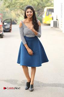 Telugu Actress Roshini Prakash Stills Short Dress at Saptagiri Express Release Press Meet  0226.JPG