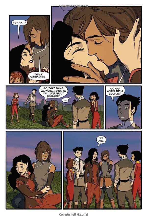 Did Korra Kiss Asami : korra, asami, NickALive!:, Preview, Pages, First,