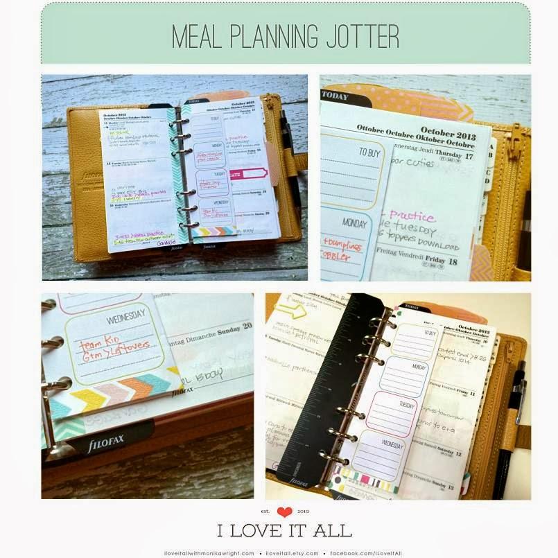Meal Planning Download for Filofax | iloveitallwithmonkawright.com