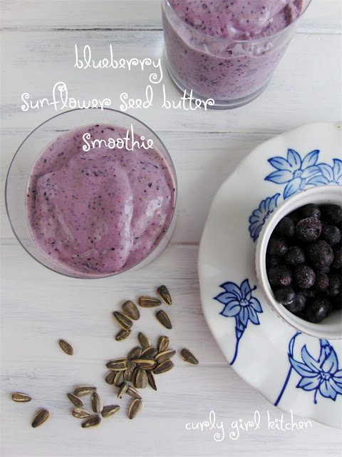 Blueberry Sunflower Butter Smoothie