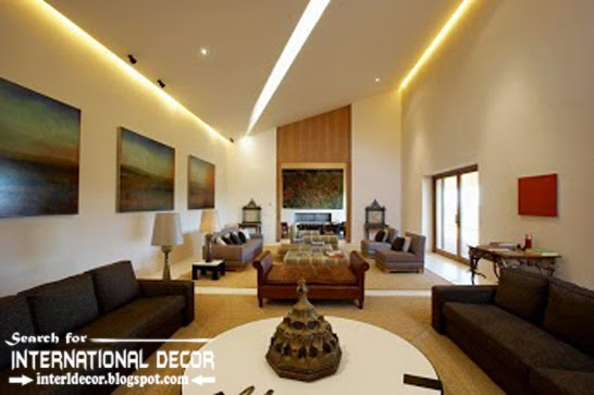 Contemporary Pop False Ceiling Designs Ideas 2015 Led Lighting For Modern Living  Room 2015