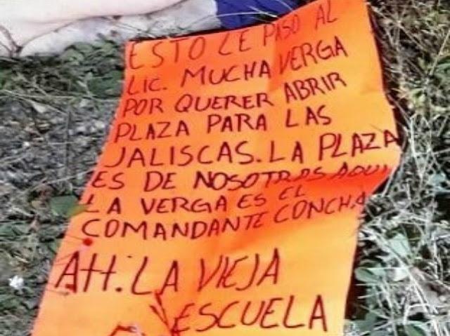 """""""  Zetas """"Vieja Escuela"""" capturan a alto mando de la Federal lo torturan y ejecutan ,lo tiran con cartulina y mensaje al CJNG"""""""