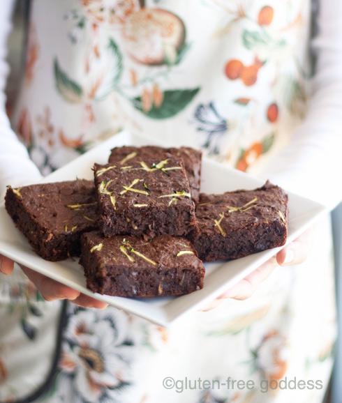 Gluten-free zucchini brownies