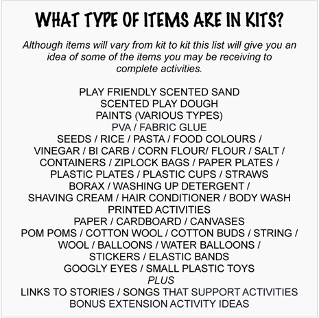 example items found in play easy kids activity kits