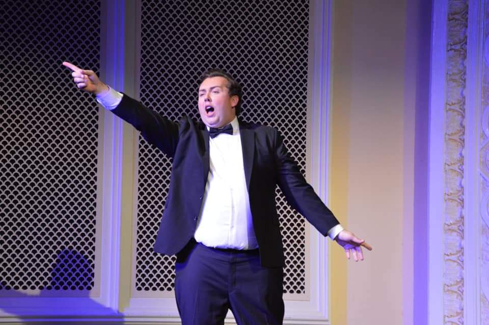 IN REVIEW: baritone GUY CHAMBERS as Frank in UNCG Opera Theatre's October 2019 production of Johann Strauss II's DIE FLEDERMAUS [Photograph © by Amber-Rose Romero, Tamara Beliy, & UNCG Opera Theatre]