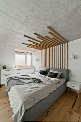 desain dinding kayu kamar tidur