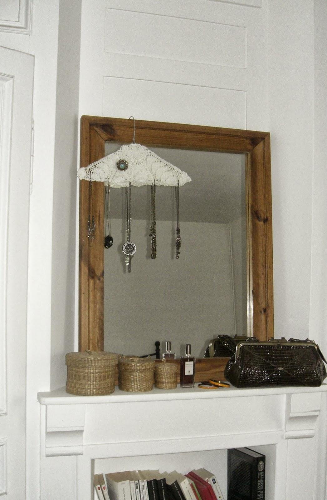 gabulle in wonderland je recycle mes napperons le cintre porte bijoux. Black Bedroom Furniture Sets. Home Design Ideas