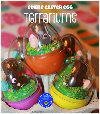 DIY Edible Easter Terrariums, shared by Hoopla Palooza at The Chicken Chick's Clever Chicks Blog Hop