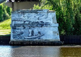 Пина. Пинск. Опоры старого моста