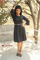 Telugu Actress Pavani Latest Pos in Black Short Dress at Smile Pictures Production No 1 Movie Opening  0254.JPG