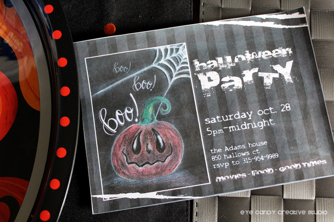 halloween invitation, halloween party invite, halloween, pumpkin art