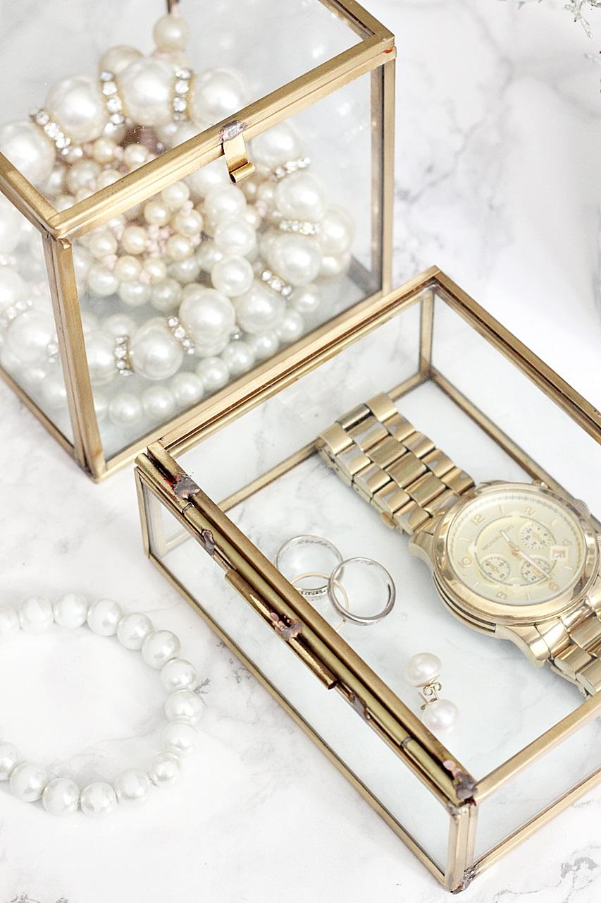 gold pearls helmet hmhome kultainen rasia golden box beauty michael kors watch jewerly box