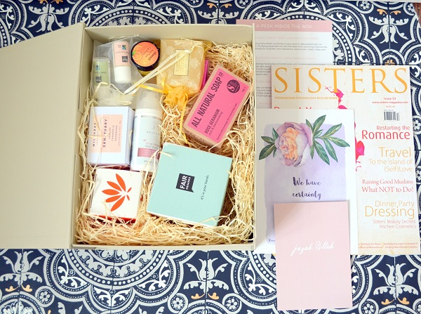 Halal Goodies luxury subscription box for UK Muslim women