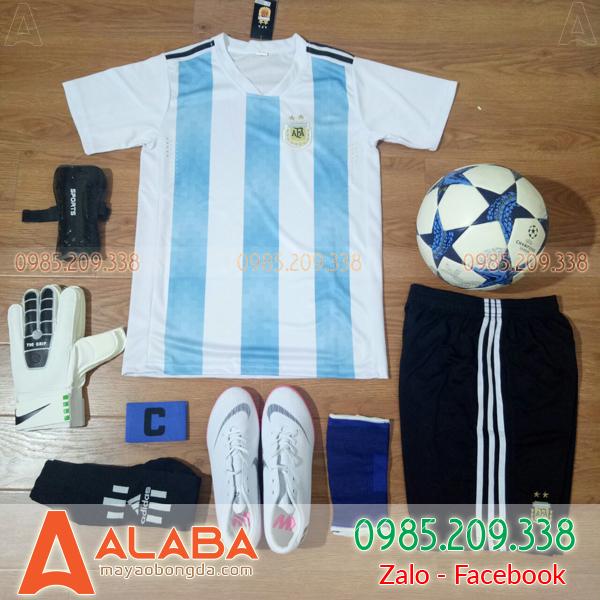 Áo Bóng Đá Đội Tuyển Argentina 2018 Sân Nhà