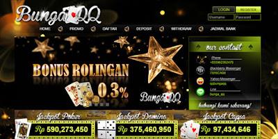 BungaQQ.co Situs Domino99 BandarQ dan Poker Online Terpercaya 2017