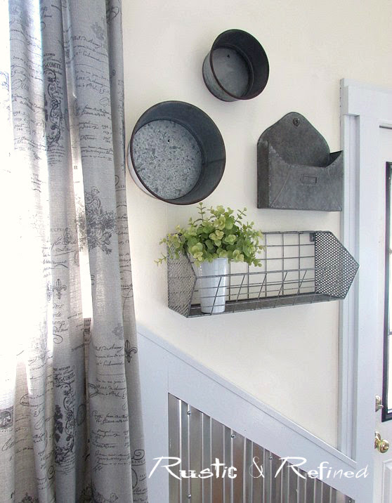 How to use Galvanized Metal in Home Decorating on a budget.