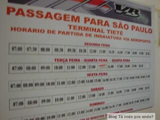 ônibus de Viracopos para rodoviária Tietê