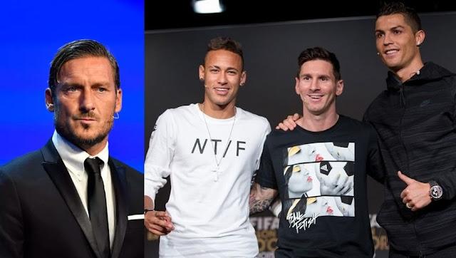 Messi Ronaldo Neymar Totti