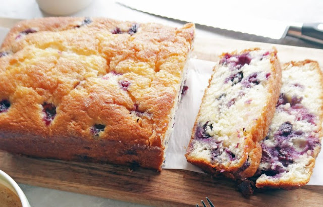 Classic Lemon Blueberry Loaf Cake