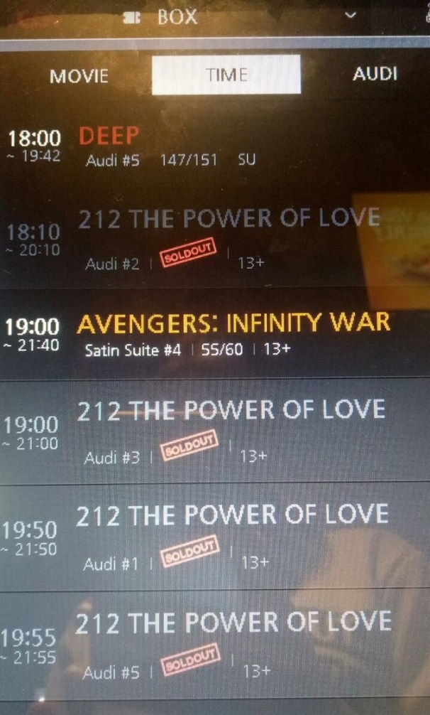 Tiket film 212 The Power of Love ludes