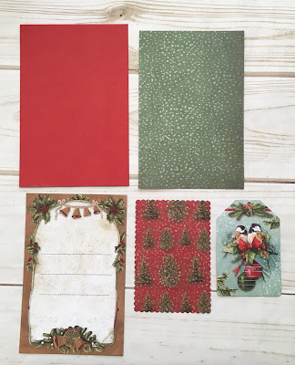 Easel Gift Card Holder Tutorial Stamperia Christmas