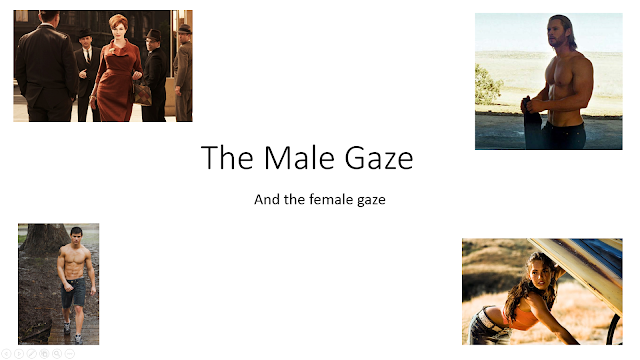 mulveys theory of the male gaze critique Mulvey's male gaze theory is often used in the music industry to show status many men like to surround themselves with women in their music videos as it adds to their star image they will be perceived as desirable and enticing.