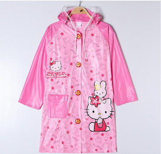 Gambar Jas Hujan Hello Kitty 3