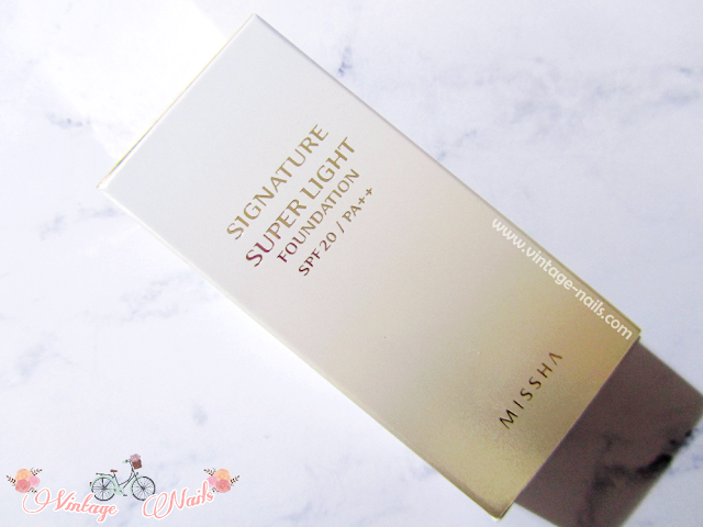 Missha, cosmetica coreana, korean cosmetics, Signature Super Light Foundation