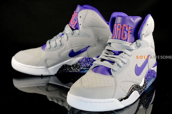The upcoming Nike Air Force 180 High took inspiration from the Phoenix Suns  colorway to create the Wolf Grey Purple Orange 180 s. 314416ce69f0