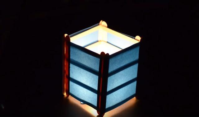 Lampion Dari Stik Es Krim