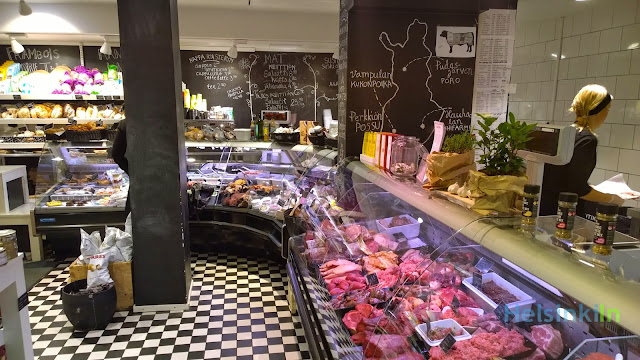 meat and cheese counter at Anton & Anton Kruunuhaka