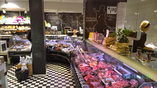 meat and cheese counter at Anton & Anton Kruunuhaka