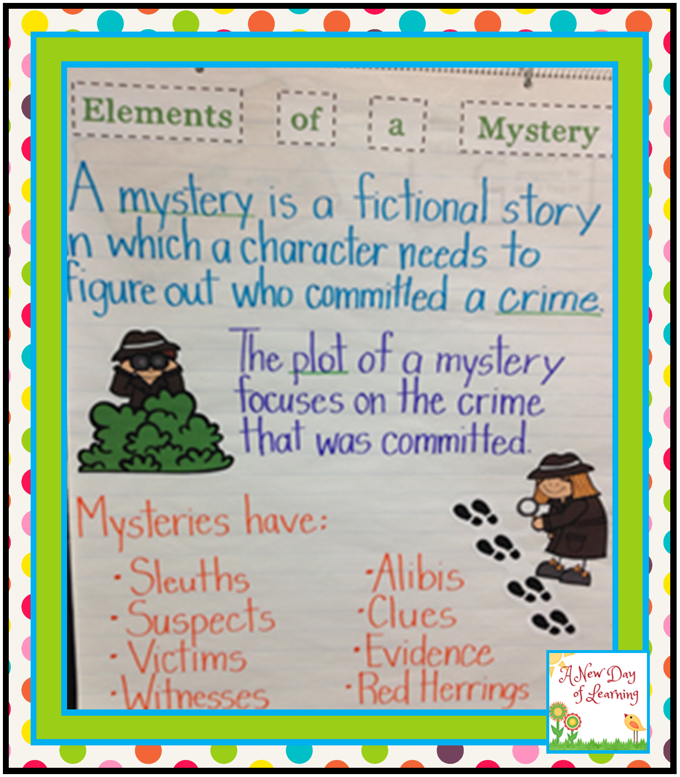 Mystery Elements: A New Day Of Learning: Elements Of A Mystery