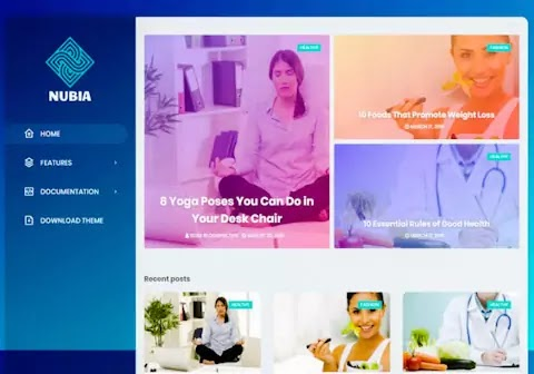 Nubia Blogger Template | Responsive Mobile friendly whatsapp sharing blogger template