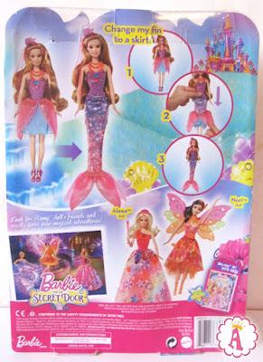 Вид коробки с куклой барби русалкой 2 в 1 Barbie and the Secret Door