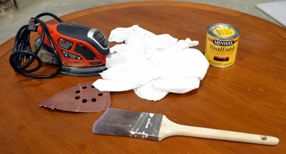 Gather Materials: How to Stain a Coffee Table | DIY Playbook