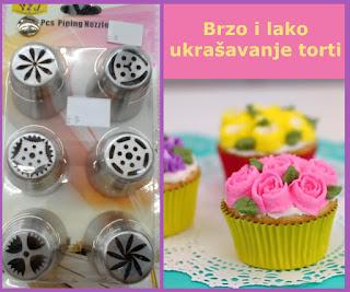 Ruske modle set za ukrašavanje torti