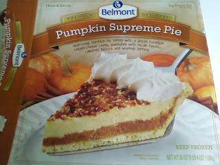 A box of Belmont Pumpkin Supreme Pie, from Aldi