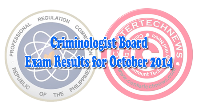 PRC Criminologist Board Exam Results for October 2014 Complete List