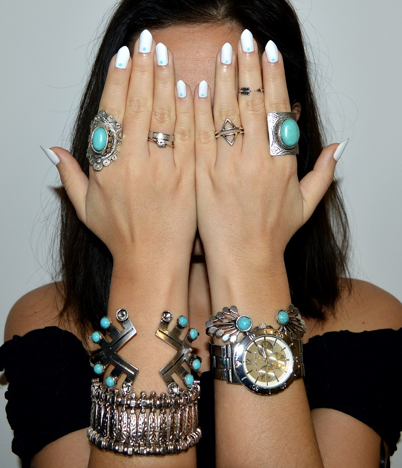 turquoise bracelets rings jewelry