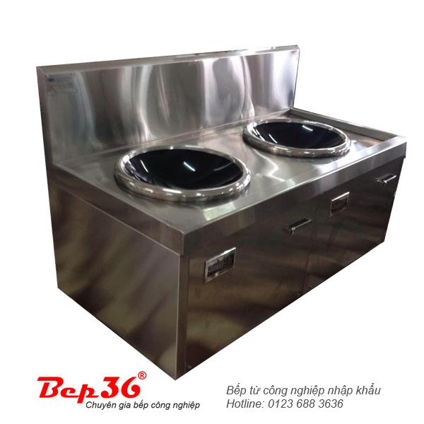 Bếp từ công nghiệp 2 lò mặt kính lõm VH15KLKx2-IH52 tại Thanh Hóa