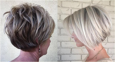 Stacked Ash Layers - Hairstyles For Gray Hair Over 60