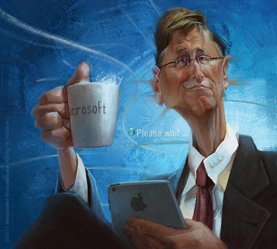 """""""Bill Gates"""" por Alexander Novoseltev"""